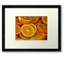 Orange Squash Framed Print