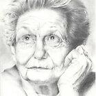 Pencil portrait of Kath Walker by Michelle Gilmore