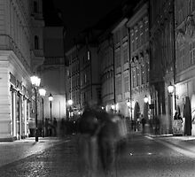 Night Scene on a Prague Street by Lin-Ann Anantharachagan