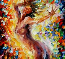 Songs Of Love - original oil painting on canvas by Leonid Afremov by Leonid  Afremov