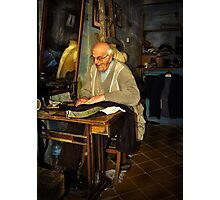 Old Tailor Gozo Photographic Print