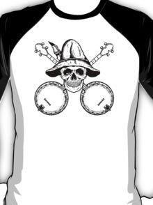 Blue Grass Skull and Banjos T-Shirt