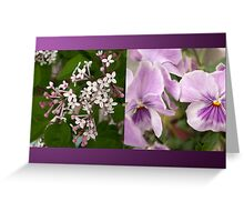 Purple Harmony Greeting Card