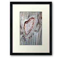 Smiley Heart Framed Print