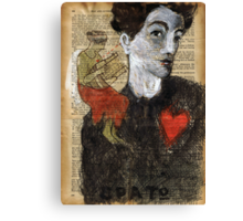 When Egon met  Erato.... Canvas Print