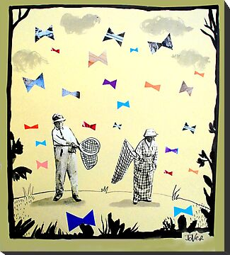 butterflies & bowties by Loui  Jover