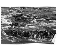 Backwash in Black and White Poster