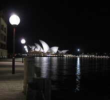 Opera House at Night by myrrih