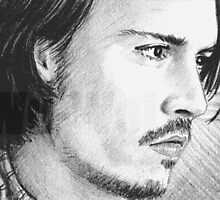 Johnny Depp ACEO mini-portrait by wu-wei