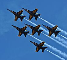 Blue Angels Flying in Formation by GarethWilton