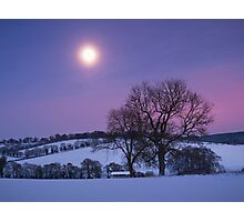 Moon over the Chilterns Photographic Print