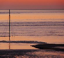 Twilight at Burnham on Sea by Meladana