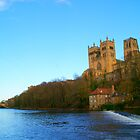view along the river-Durham cathedral-Durham-UK by Graeme Simpson