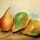THREE PEARS by Esperanza Gallego