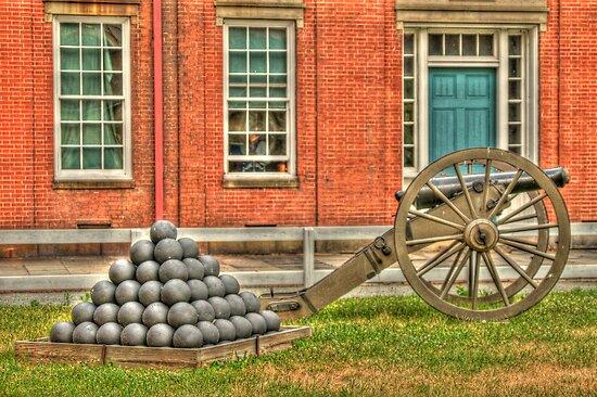 BOOOOOOM    Cannon in the Courtyard by Kim McClain Gregal