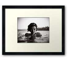 Shawna, Lake Saint George, Maine Framed Print
