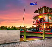 Docked By The River Murray by Shannon Rogers