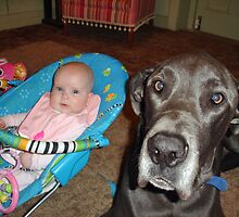 Great Dane - Bodhi the Babysitter by TonyCrehan