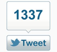 Twitter Tweet Button Shirt - Vertical Count by likebutton