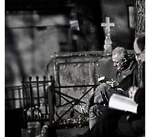 Silent reading... Photographic Print