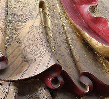 Golden folds by Susan Moss