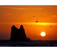 sunset activity at 'the notch', la push, washington, usa Photographic Print