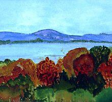 Lake Memphremagog in Autumn by donnawalsh