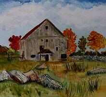 Glover Barn in Autumn by donnawalsh