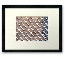 Snow fence Framed Print