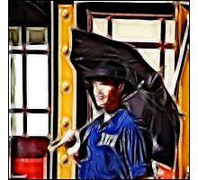Singing in the Rain: Fractalius Photographic Print