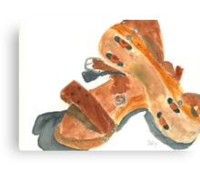 Kay's Wooden Rollerskates Canvas Print