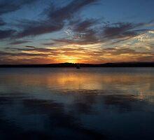 Warner Bay Summer Sunset - Vertical by Simon Goode