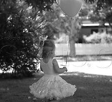 Olivia and a balloon by Lanii  Douglas