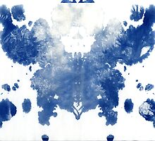 rorschach, forest - cyanotype print by iannarinoimages