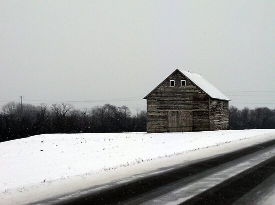 Snow Barn by Brian Gaynor