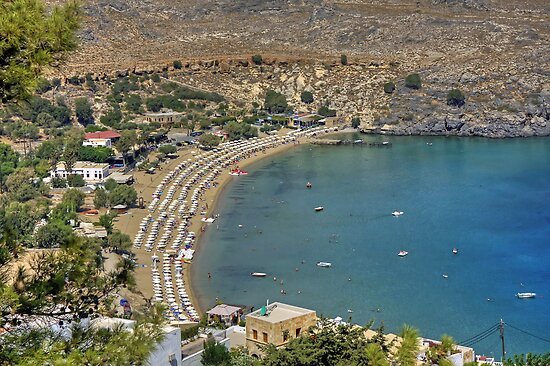 Lindos Bay by Tom Gomez