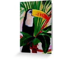 Toucan Bird Wildlife South American Jungle Acrylic Painting Greeting Card