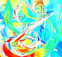 Immersed in Vividness Abstract by Alexander Butler