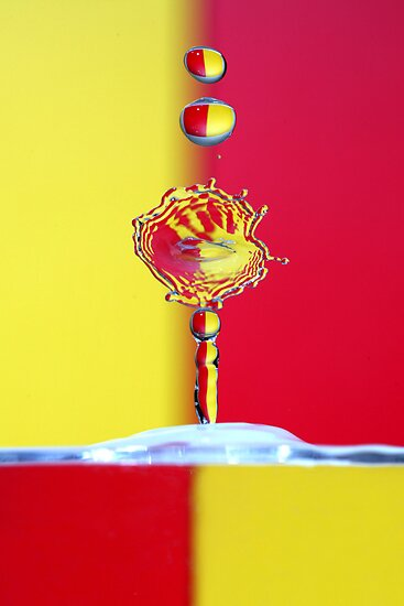 Red & Yellow Water Drops by VladimirFloyd