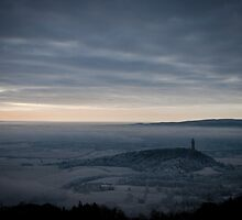 High up on the Ochil Overlooking Wallace Monument by Tristan Hopkins