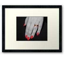 Red nails Framed Print