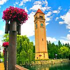 """Clock Tower - Spokane, WA"" by Whitney Mason"