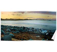 Saltwater sunset Poster