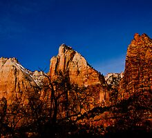 Three Peaks - Zion National Park by Melissa Seaback