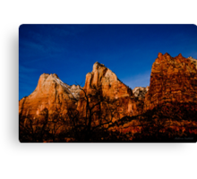 Three Peaks - Zion National Park Canvas Print