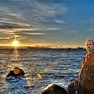 Winter Sunset #4 (portait) by James Zickmantel