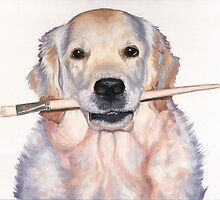 Artist Dog - Golden Retriever by Nicole Zeug
