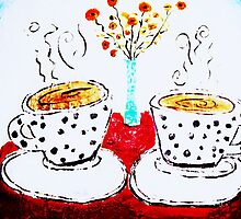 Coffee, Poppies, Polka Dotties by Autumn Rose