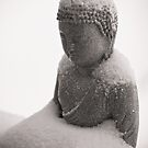 Buddha in the Snow 2 by Edward Myers