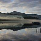 Smoke on the water - Derwent Water Keswick by monkeyferret